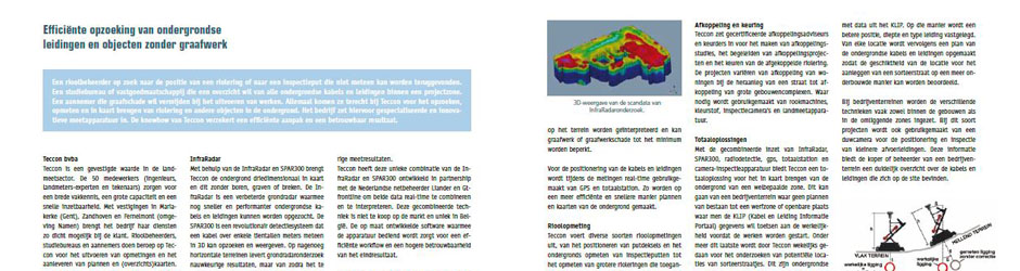 Article consacré à la détection d'objets enterrés dans Riorama