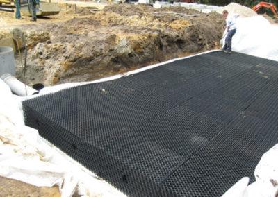 Détection de bassins d'infiltration enterrés